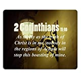 Bible Verses Quote 2 Corinthians 11_10 As surely as the truth of Christ is in me nobody in the regions of Achaia will stop this boasting of mine MSD Customized Made to Order Cloth with Neoprene Rubber Mouse Pads