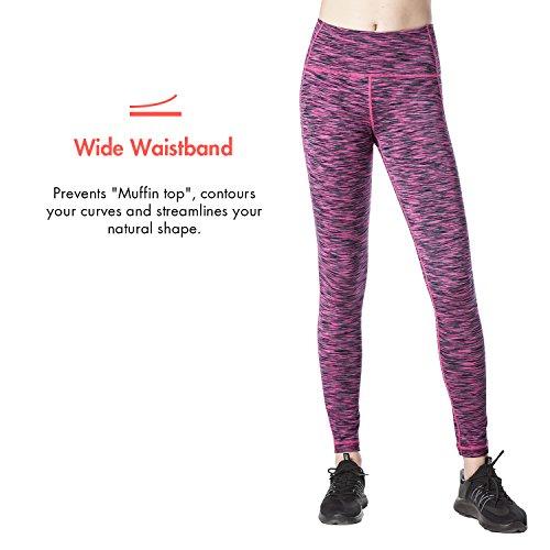 LAPASA Pantalón Deportivo de Mujer, Malla para Running, Yoga y Ejercicio. Hypnotic Purple (Púrpura Multitono)