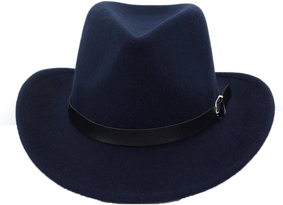 ASO-SLING Unisex Wool Felt Western Cowboy Hat Lightweight Wide Brim Outback Cattleman Hat