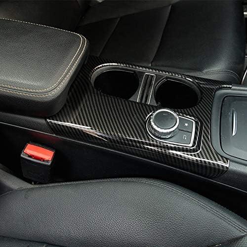 REFURBISHHOUSE RHD pour Mercedes Classe A//GLA//Cla C117 W117 W176 X156 2012-17 AMG la Voiture Carbone ABS Chrome Garniture de Couverture de Porte-Gobelet la D/éCoration de Voiture Accessoires