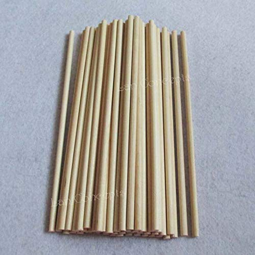 Moonnight Store 180x5mm Wood Popsicle Sticks Round Lollipop Ice Cream Stick Kids DIY Crafts Tools - Natural Color 300pcs/lot
