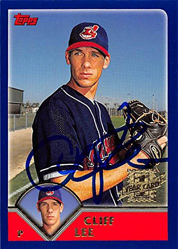 Autograph 157518 Cleveland Indians Ft 2002 Topps 1st Year No. 304 Cliff Lee Autographed Baseball Card