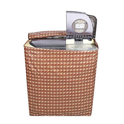 E-Retailer™ Brown Wooden Texture Design Semi-Automatic Washing Machine Cover Upto 7.5 Kg Capacity 51 k%2BM4mF8L India 2021