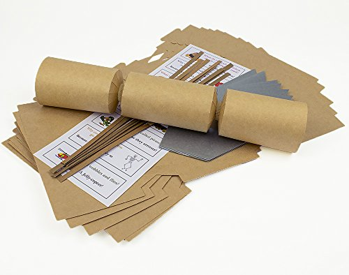 8 Natural Brown Kraft Fill Your Own Cracker Kit - Recycled Style ()