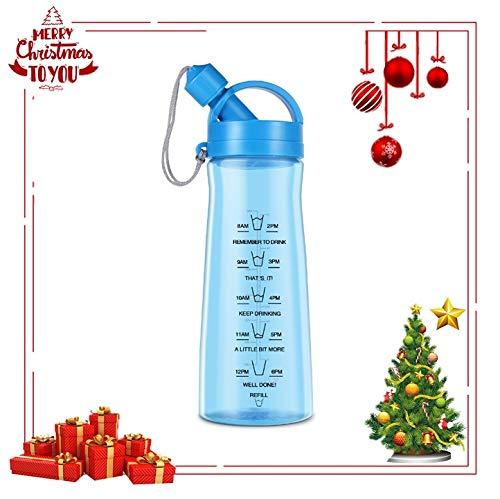 Trinkflasche Sportflasche aus BPA Frei 1L für Unterwegs Sportflasche Wasserflasche zum Mitnehmen von Kalten Getränken, Blau