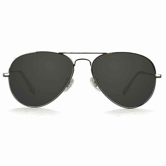 5264b83b42 KZ Aviator Classic Polarized Sunglasses for Men and Women (Gun Metal Frame