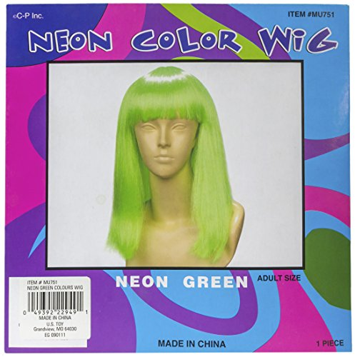 [Neon Wig/Green] (Neon Green Wigs)