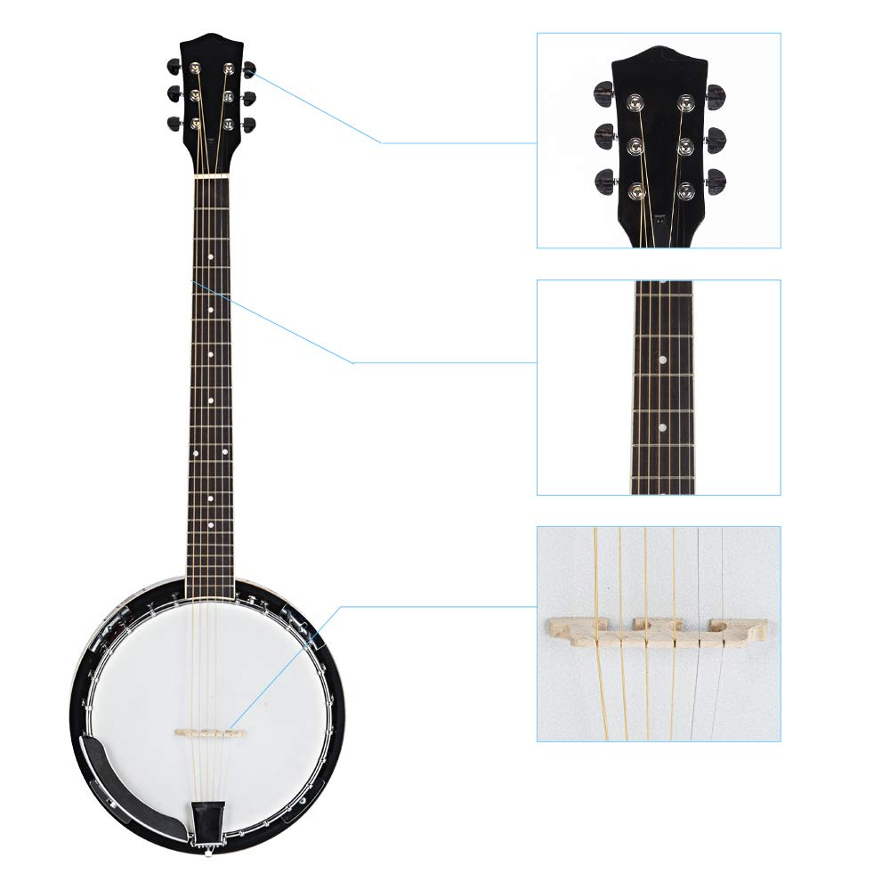 Top Grade Exquisite Professional Sapelli Notopleura Wood Alloy 6-string Banjo by Teekland (Image #3)