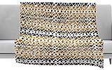 KESS InHouse Li Zamperini Africa Brown Tribal Fleece Throw Blanket x, 40'' x 30''