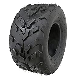 JCMOTO 16x8-7 Tubeless Tire for ATV Go Kart Quad UTV Buggy 4 Four Wheeler 50cc to 125cc | 205/55-7 (One)