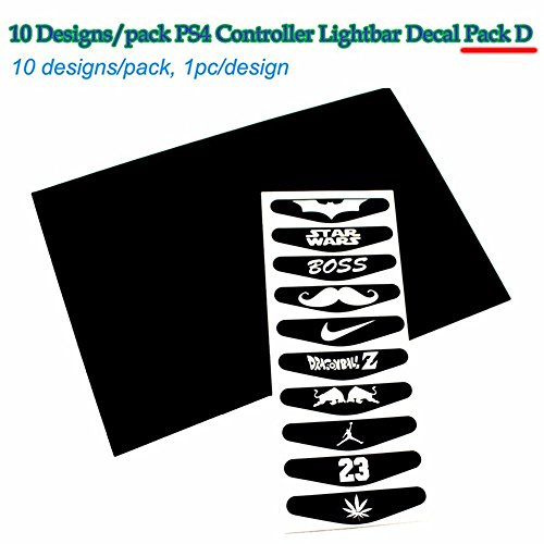 10 pcs/lot LED Light Bar Cover Decal Sticker for Sony PS4 Controller Station 4 Joystick Dual Shock Gamepad Sitckers -