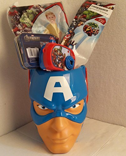 [Toddler Kids Christmas Holiday Gift Captain America Marvel Avengers Iron Man Hulk Basket Bundle Action Boys Figure] (Captain America First Avenger Halloween Costume)