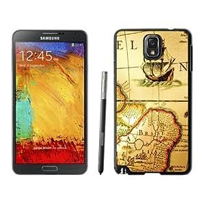 NEW Unique Custom Designed Samsung Galaxy Note 3 N900A N900V N900P N900T Phone Case With Old Pirate Map_Black Phone Case