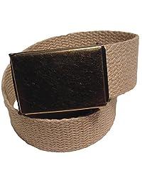 Hemp Web Belt with Flip Top Belt Buckle