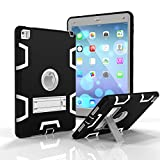 iPad Pro 9.7 Case, iPad Air 2 Case,Jeccy 3in1 Full-body Shock Proof Hybrid Heavy Duty Armor Defender Protective Case with Kickstand, Silicone Skin Hard Plastic Case for iPad Pro 9.7 inch 2016