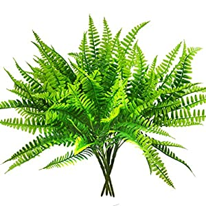 Artificial Boston Fern Bush Plant Shrubs Greenery Bushes for Indoor Outside Home Garden Office Verandah Wedding Decor 6