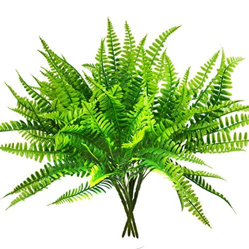 Artificial Boston Fern Bush Plant Shrubs Greenery Bushes for Indoor Outside Home Garden Office Verandah Wedding Decor- 4 ()