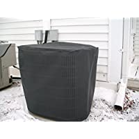 HeavyDuty Beathable Tight Mesh Winter Full Air Conditioner Cover - 24x24x 24 Ht - Black