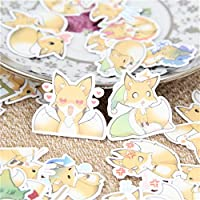 40 Pcs/lot Sprouting Fox Behavior Decorative Paper Sticker Decal for Phone Car Laptop Album Diary Backpack Kids Toy Stickers