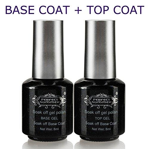 Perfect Summer Gel Nail Polish 8ml Clear Base Coat and Top C