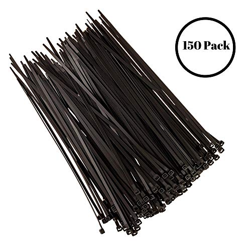 Strong Ties Altai-1 Cable Zip Ties, Premium Heavy Duty, Nylon Wire, 50 lb. Tensile Strength, Indoor Outdoor UV Resistant, Large, Black, 150 Piece from Strong Ties