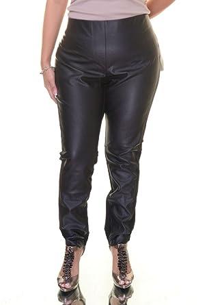 61a37ddc2439fc Lauren Ralph Lauren Womens Ponte Faux Leather Skinny Pants at Amazon ...