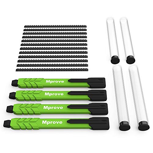 MProve Mechanical Carpenter Pencil -4 Masonry Pencils with 12 Extra Leads