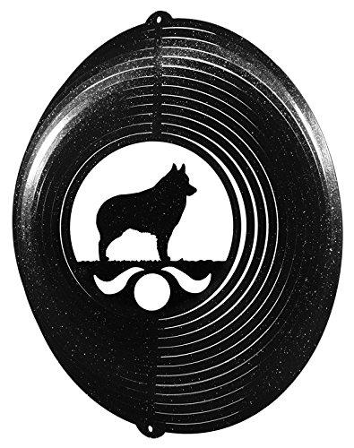 スキッパーキCircle Swirly Metal Wind Spinner 2265 B001VA3744 ブラック
