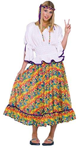 Woodstock Girl Costumes (Morris Costumes Girl's WOODSTOCK GIRL, One size)