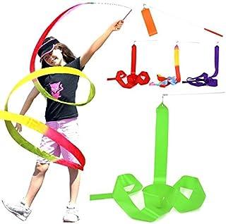 HATCHMATIC Nouvellement Conception 1pcs Danse Ruban Gym Gymnastique Rythmique Rod Art Ballet Fouet 4 m Streamer Twirling Rod: Jaune, Taille
