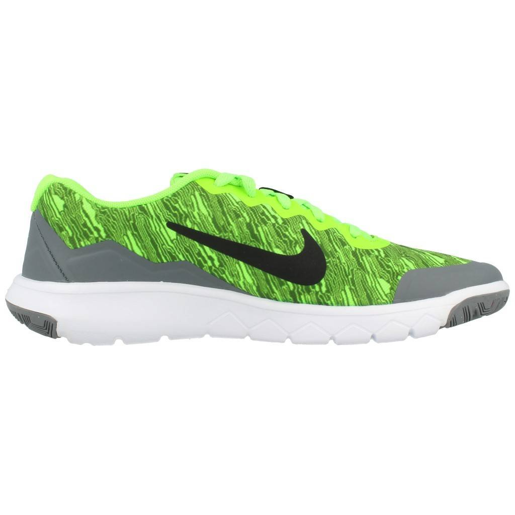 4996e778d9573 Amazon.com  Nike Big Kids Flex Experience 4 Print (GS) Green Grey White  749811-300 (5.5 Big Kid M)  Shoes