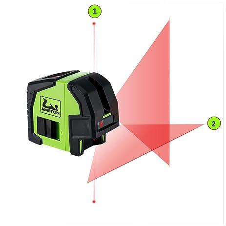 amston cross line laser level plus laser plumb bob tool accessories