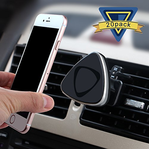 Car Mount, ilikable 20 Pack Air Vent Magnetic Car Holder 360 Degree Rotation Car Cradle for Smartphone iPhone Android GPS-Black by ilikable