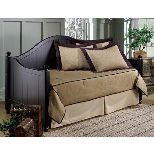 Hillsdale Furniture Augusta Solid Panel Daybed in Rubbed Black with ()