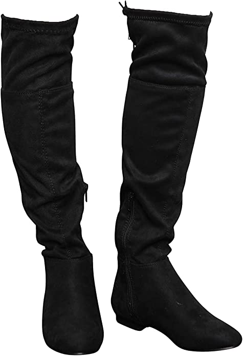 Low Heel Knee Stretch Boots Size UK