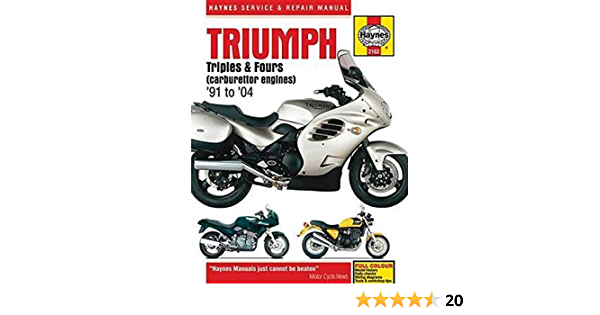 Triumph Triples Fours Carburettor Engines 91 04 Haynes Repair Manual Editors Of Haynes Manuals 9781785210495 Amazon Com Books