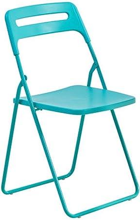 Hyysh Chaise Pliante En Plastique Simple Chaise Ikea Chaise De Dortoir Pour Etudiants Chaise De Salle A Manger A Domicile Chaise De Formation Au Bureau Ordinateur Couleur Bleu Amazon Fr Cuisine