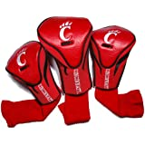 Team Golf NCAA Cincinnati Bearcats Contour Golf Club Headcovers (3 Count), Numbered 1, 3, & X, Fits Oversized Drivers, Utility, Rescue & Fairway Clubs, Velour lined for Extra Club Protection