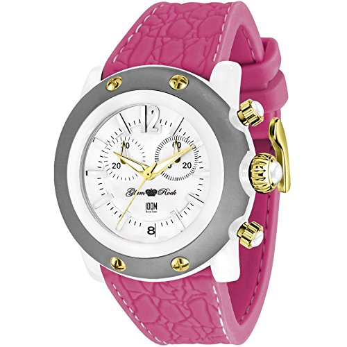 GLAM ROCK WOMEN'S MIAMI BEACH 46MM PINK SILICONE BAND QUARTZ WATCH GR2510