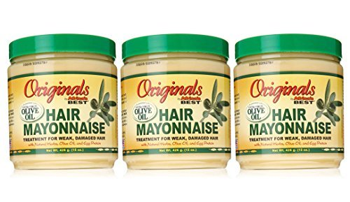 Conditioning Hair Mayonnaise - Africa's Best Organics Hair Mayonnaise, 15 Oz - Pack of 3