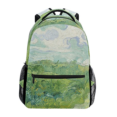 Backpacks Painting College School Flower Camping Oil Hiking Daypack Book Floral ZZKKO Travel Art Bag wgYXXq