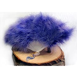 Quasimoon PaperLanternStore.com Feather Hand Fan - Lavender