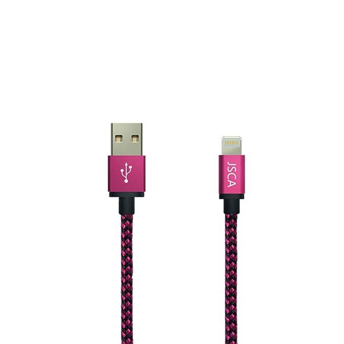 14 opinioni per Cavo iPhone 1m / 3.3ft Cavo JSCA intrecciato in nylon cavo per caricabatterie /