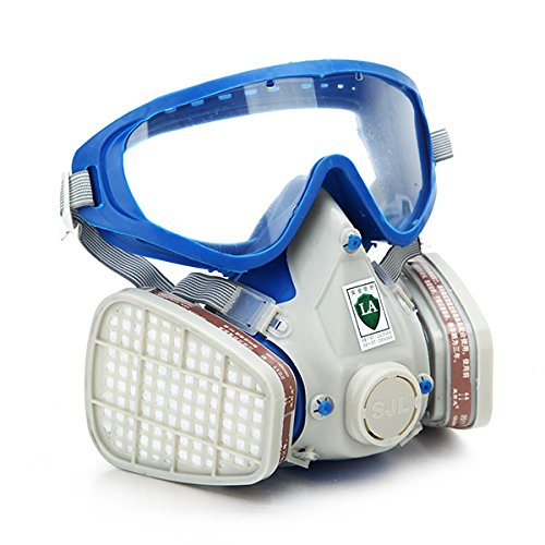 Gas Comprehensive Cover Paint Chemical Mask & Goggles Face Respirator Pesticide Dustproof Fire Escape Breathing Apparatus