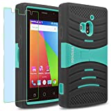 Coolpad ROGUE / 3320A Case, INNOVAA Turbulent Armor Case W/ Free Screen Protector & Touch Screen Stylus Pen - Teal/Black