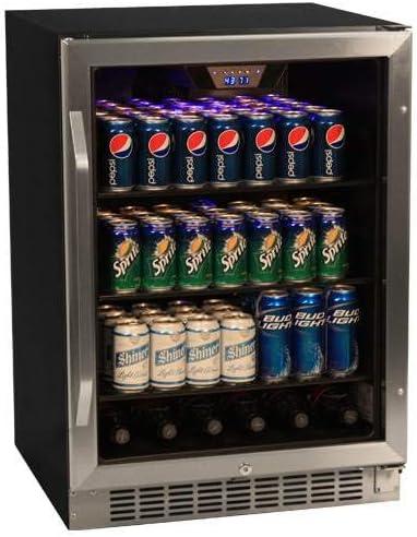 B007PNX1AG EdgeStar 148 Can Stainless Steel Beverage Cooler 51-k47mWh4L.