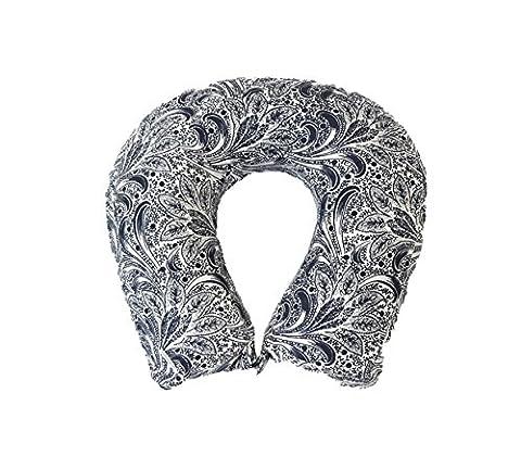 Kanyoga Memory Foam Neck Pillow Comfortable Travel Pillow Printed Neck Support Print Floral (Lavanda Collo Wrap)