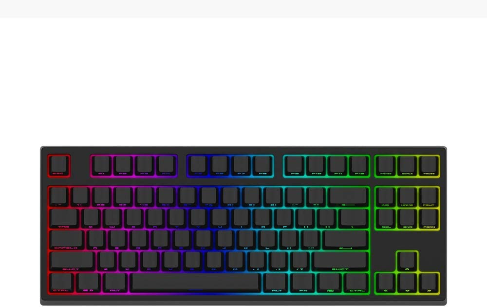 Keycool Yunzii 87-RGB Wired Mechanical Gaming Keyboard Compact 87 Keys RGB Backlit Mechanical Computer Keyboard Anti-Ghosting for PC/Mac/Linux/Laptop (Brown Switch)