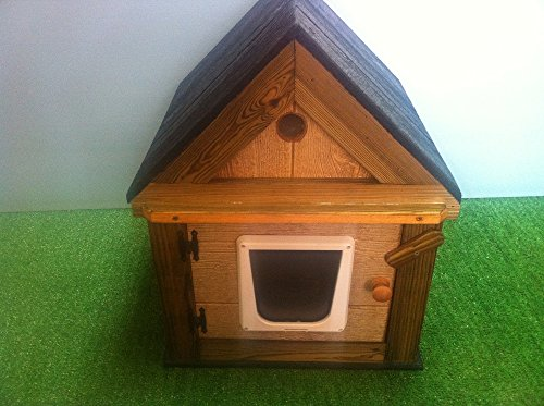 Heated outdoor Cat House by STABOB'S HANDCRAFTED PET HOUSES