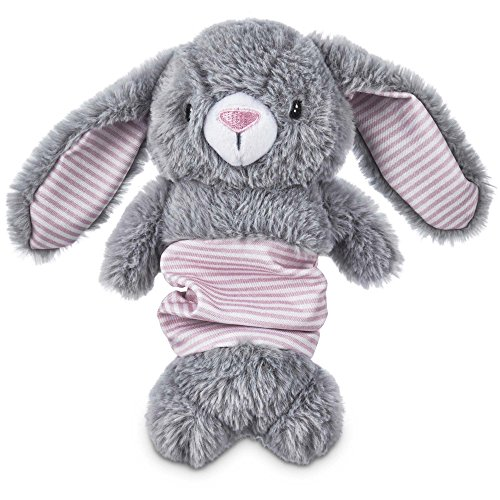 Leaps & Bounds Little Loves Bungee Bunny Plush Puppy Toy, Medium